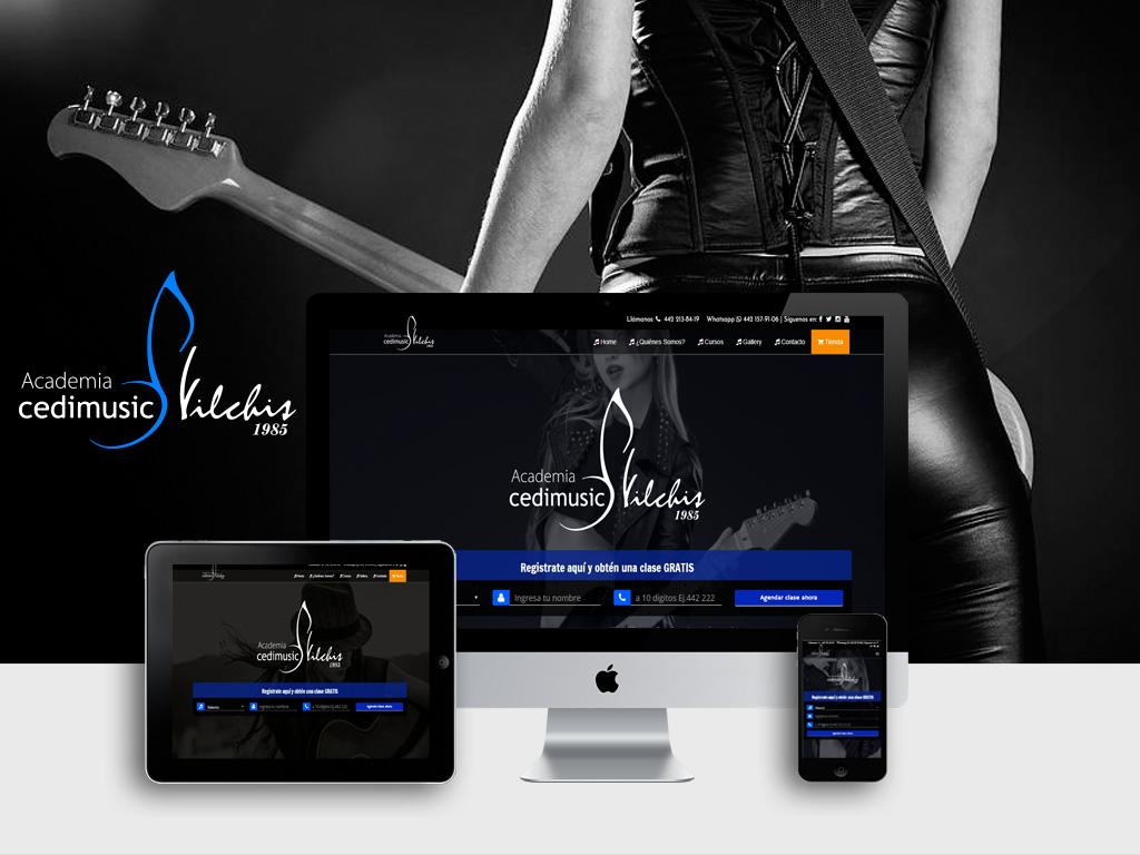 Página Web de Cedimusic Vilchis
